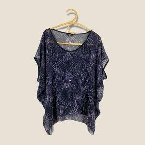 Aritzia | Babaton | Silk Flowy Printed Sheer Blouse